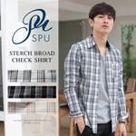 2016 秋 メンズ チェックシャツ ネルシャツ 1