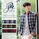 2016 秋 メンズ チェックシャツ ネルシャツ 3