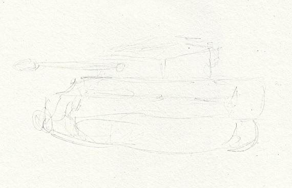 ティーガー戦車 今日ものんびりと 2016/09/19
