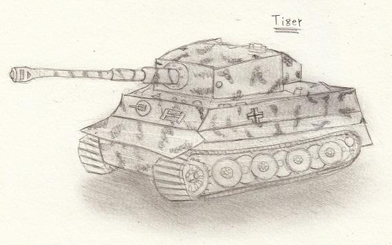 ティーガー戦車 今日ものんびりと 2016/09/25