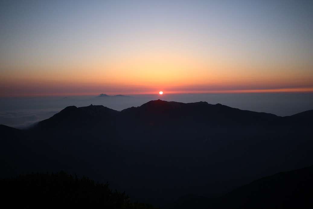 morgenrot_北岳肩の小屋1