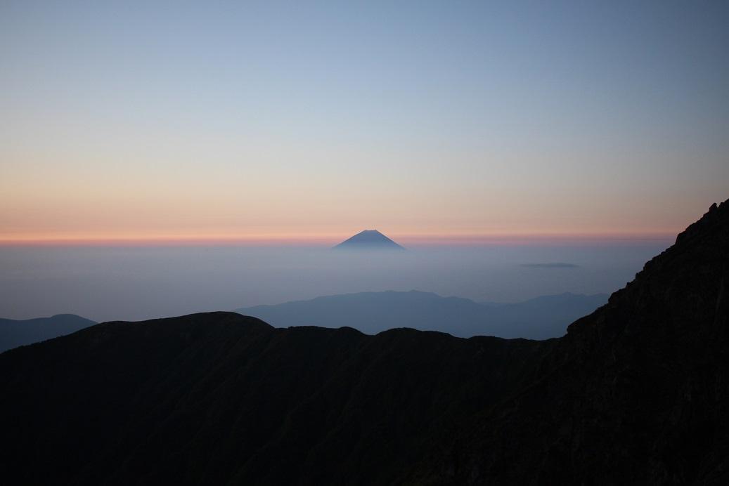 morgenrot_北岳肩の小屋2