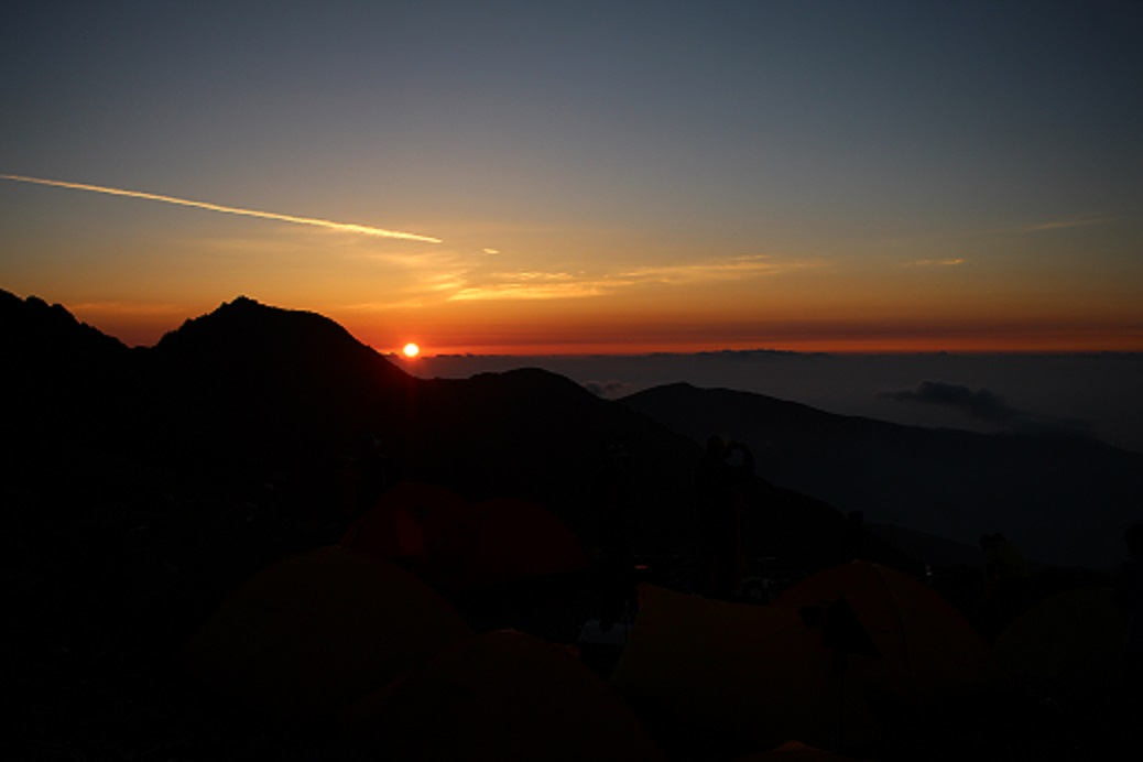 morgenrot_北岳山荘1