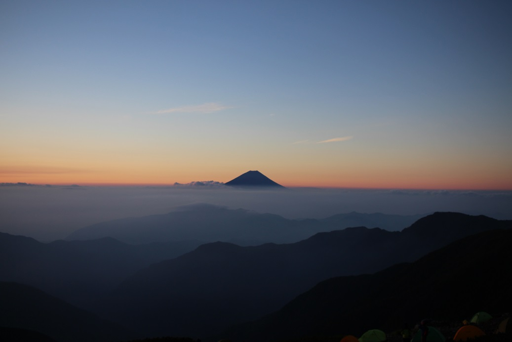 morgenrot_北岳山荘2
