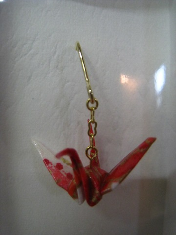 折り鶴ピアス 2