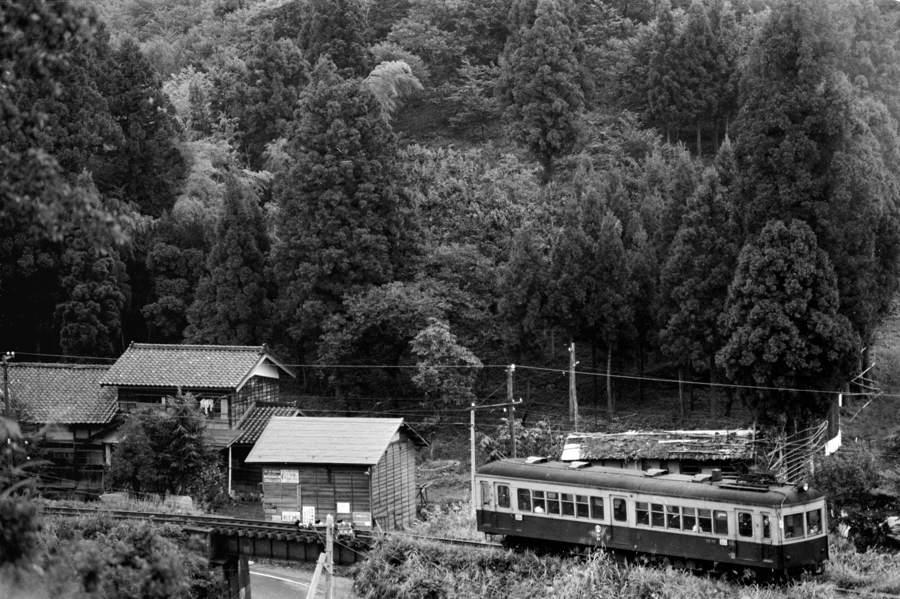 蒲原鉄道 秋の土倉鉄橋1 1981年9月 16bitAdobe take1b2