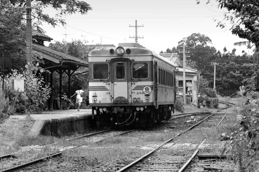 島原鉄道 堂崎駅4 1982年8月 16bitAdobeRGB 原版 take1b