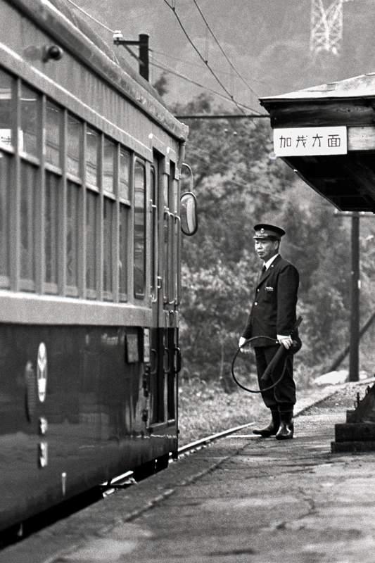 蒲原鉄道 七谷駅のホーム1 1982年9月 X970 AdobeRGB 16bit 原版 take1b