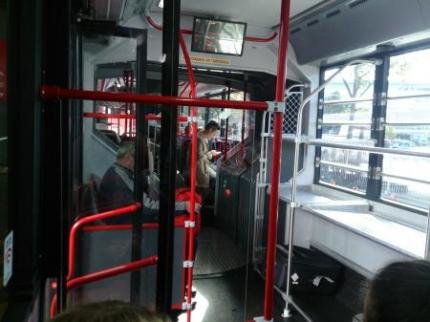 スカイバス車内