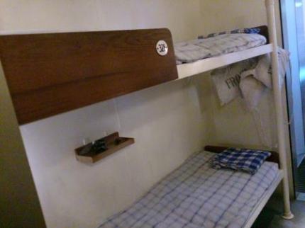 船の中ベッド