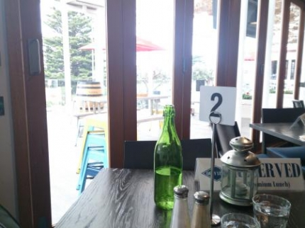 私たちのテーブルからの景色