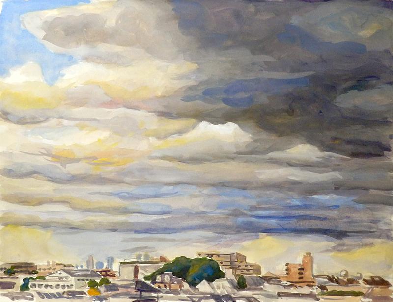 雨雲の接近
