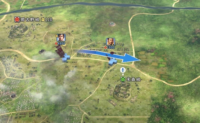 信長の野望創造戦国立志伝 末森城攻略開始