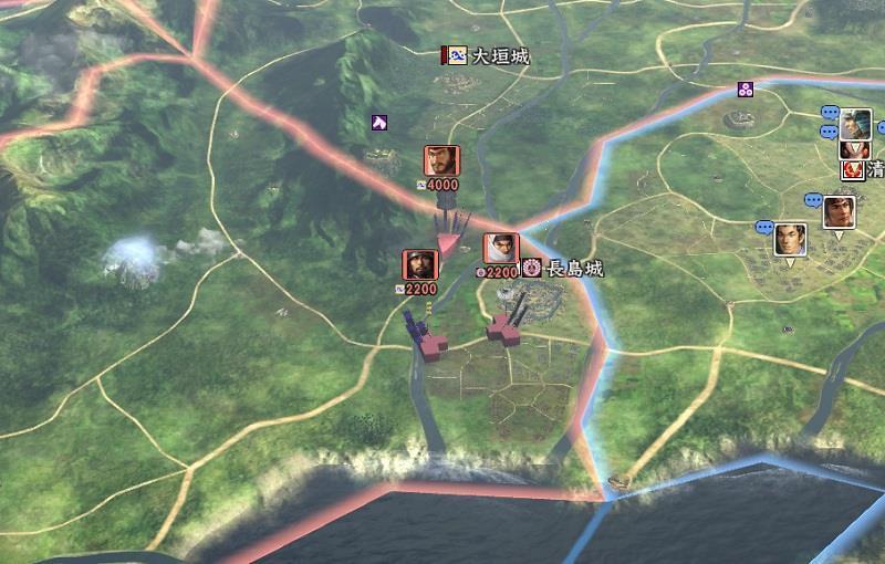 信長の野望創造戦国立志伝 何故か長島城を攻める斎藤家