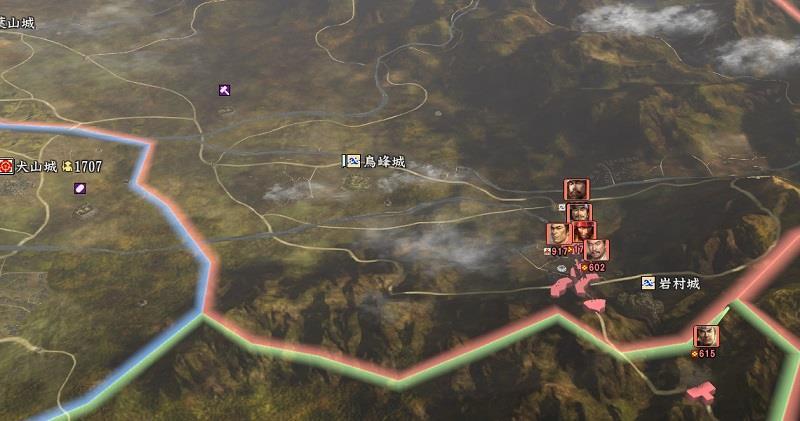 信長の野望創造戦国立志伝 美濃の東に侵略を開始する武田家