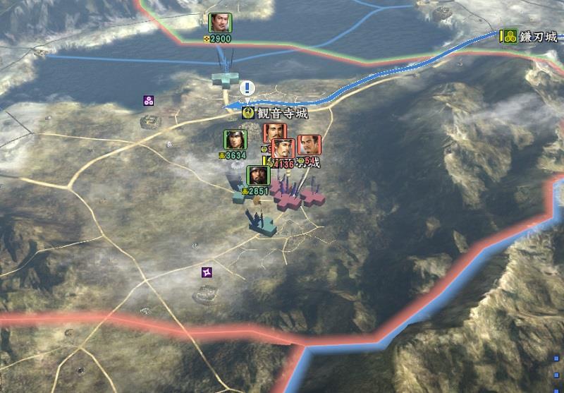信長の野望創造戦国立志伝 六角領になだれ込む浅井軍