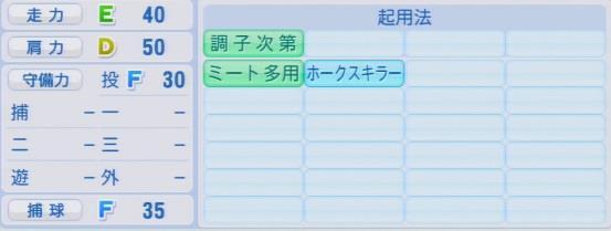 実況パワフルプロ野球2016ver1.03唐川 侑己パワプロ
