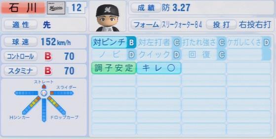 実況パワフルプロ野球2016ver1.03石川 歩パワプロ