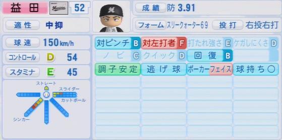 実況パワフルプロ野球2016ver1.03益田 直也パワプロ