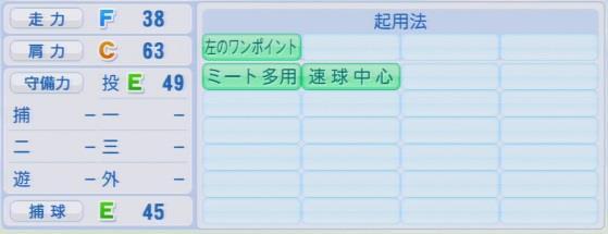 実況パワフルプロ野球2016ver1.03松永 昂大パワプロ
