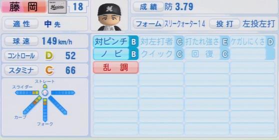 実況パワフルプロ野球2016ver1.03藤岡 貴裕パワプロ