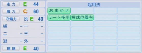実況パワフルプロ野球2016ver1.03信樂 晃史パワプロ