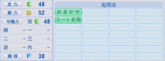 実況パワフルプロ野球2016ver1.03岩下 大輝パワプロ