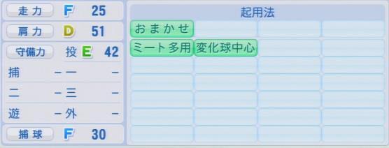 実況パワフルプロ野球2016ver1.03黒沢 翔太パワプロ