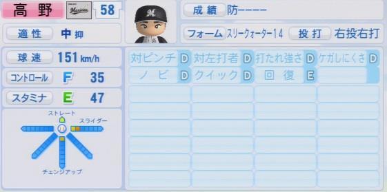 実況パワフルプロ野球2016ver1.03高野 圭佑パワプロ