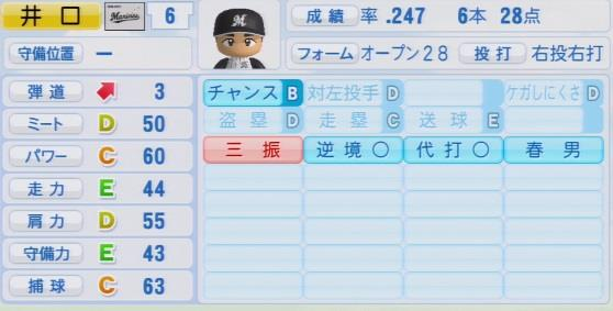 実況パワフルプロ野球2016ver1.03井口 資仁パワプロ