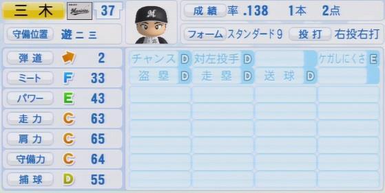 実況パワフルプロ野球2016ver1.03三木 亮パワプロ