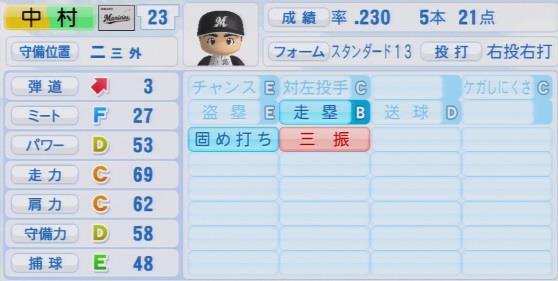 実況パワフルプロ野球2016ver1.03中村 奨吾パワプロ