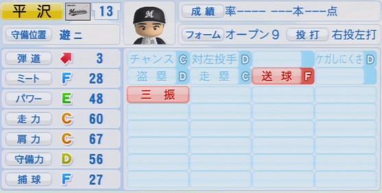 実況パワフルプロ野球2016ver1.03平沢 大河パワプロ