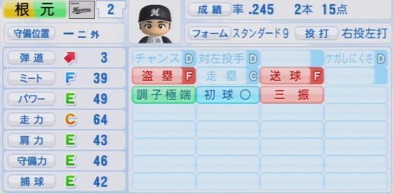 実況パワフルプロ野球2016ver1.03根元 俊一パワプロ