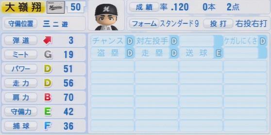 実況パワフルプロ野球2016ver1.03大嶺 翔太パワプロ