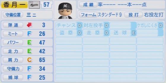 実況パワフルプロ野球2016ver1.03香月 一也パワプロ