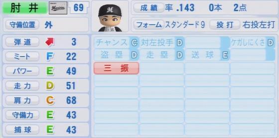 実況パワフルプロ野球2016ver1.03肘井竜蔵パワプロ21016