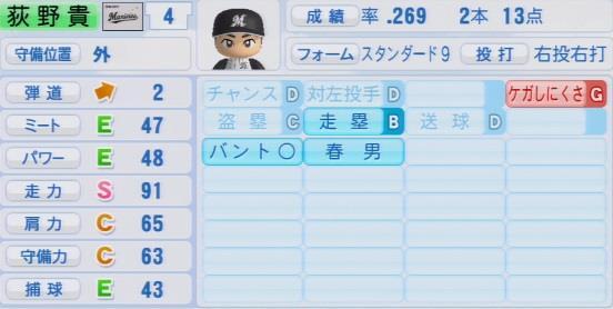 実況パワフルプロ野球2016ver1.03荻野貴司パワプロ2016