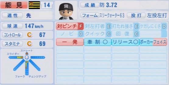 パワプロ2016能見篤史1.03