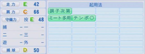パワプロ2016 岩貞祐太 1.03