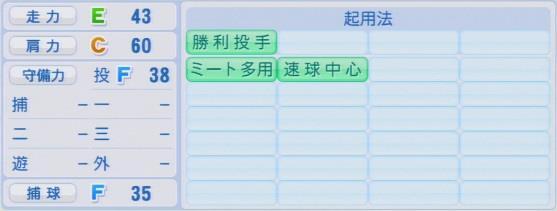 パワプロ2016 岩崎優 1.03