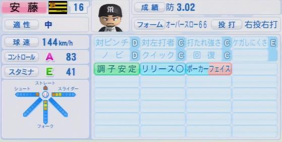 パワプロ2016 安藤優也 1.03