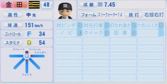 パワプロ2016 金田和之 1.03&1.04