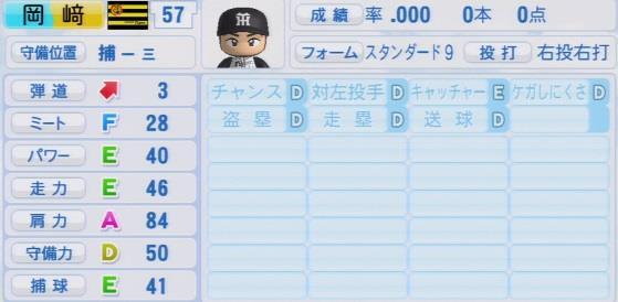 パワプロ2016 岡﨑太一 1.03&1.04