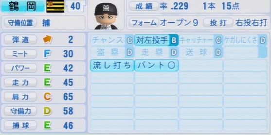 パワプロ2016 鶴岡一成 1.03&1.04