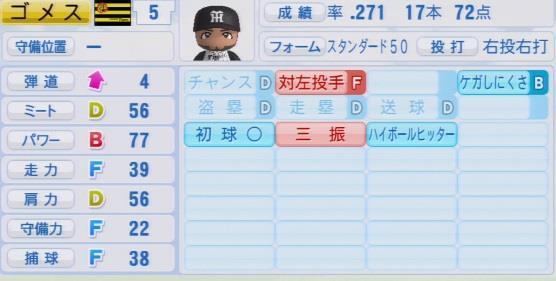 パワプロ2016 ゴメス 1.03&1.04