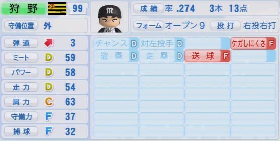 パワプロ2016 狩野恵輔 1.03&1.04
