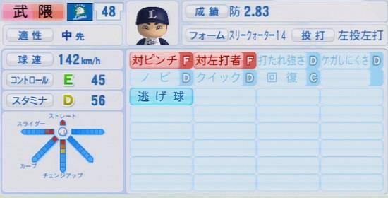 パワプロ2016 武隈祥太 1.03&1.04