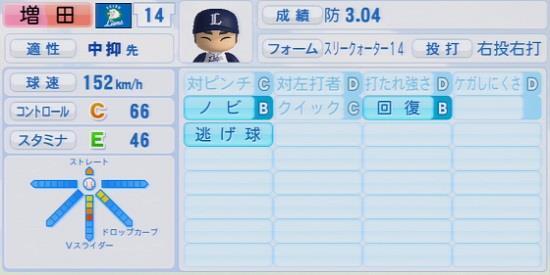 パワプロ2016 増田達至 1.03&1.04