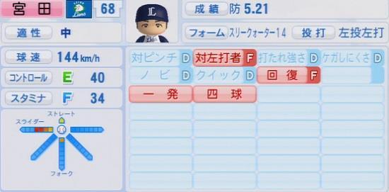 パワプロ2016 宮田和希 1.03&1.04